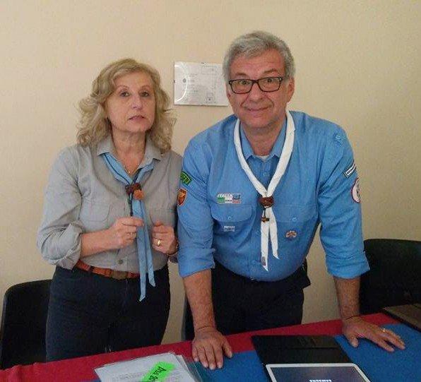 Sonia Mondin, presidente del Masci e Alessandro De Mattia, responsabile nazionale dei Foulard bianchi