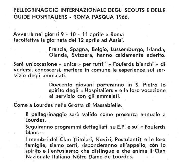 pellegrinaggio internazionaledegli FB a Roma
